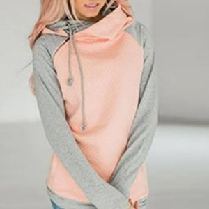 NWOT - Light Coral Double Hoodie